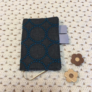 ミナペルホネン(mina perhonen)のほぼ日手帳カバー オリジナルサイズ tambourine  リネン チャコール(ブックカバー)