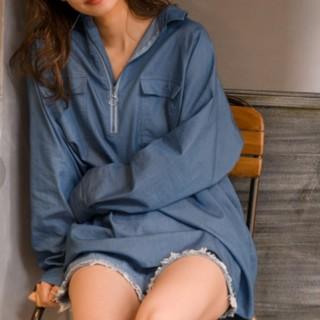 ミスティウーマン(mysty woman)のmysty woman ジップシャツチュニック(シャツ/ブラウス(長袖/七分))