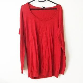 セオリー(theory)のセオリー 長袖セーター サイズ2 S レッド(ニット/セーター)
