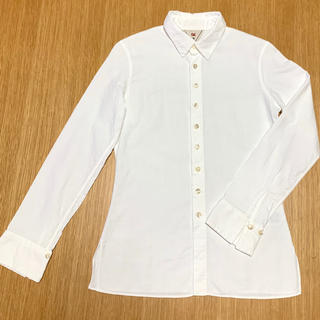 フォーティーファイブアールピーエム(45rpm)の《45rpm》白 長袖シャツ ブラウス(シャツ/ブラウス(長袖/七分))
