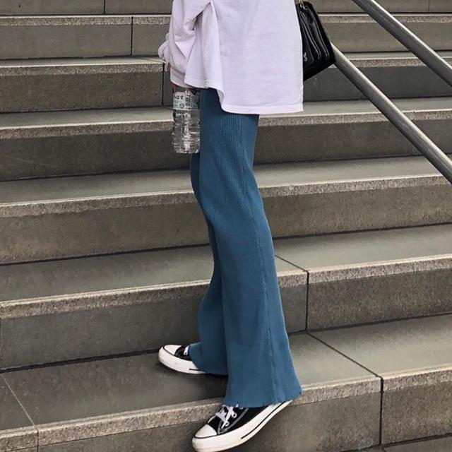 holiday(ホリデイ)のperverze  cotton rib line pants black レディースのパンツ(カジュアルパンツ)の商品写真