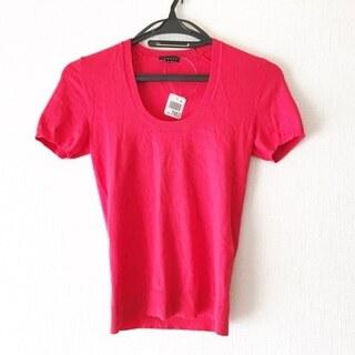 セオリー(theory)のセオリー 半袖セーター サイズ2 S レッド(ニット/セーター)