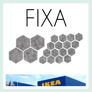 イケア(IKEA)の【IKEA】FIXA 粘着式フロアプロテクター20枚(その他)