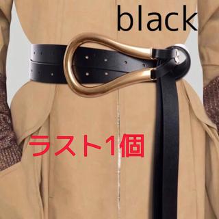 アメリヴィンテージ(Ameri VINTAGE)のゴールドバックル ダブルストラップべルト BLACK(ベルト)