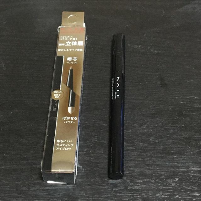 KATE(ケイト)のケイト ラスティングデザインアイブロウ 自然な茶色 コスメ/美容のベースメイク/化粧品(アイブロウペンシル)の商品写真