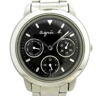 アニエスベー(agnes b.)のアニエスベー 腕時計 - V33J-0010 黒(腕時計)
