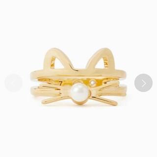 ケイトスペードニューヨーク(kate spade new york)のkate spade cat ねこ リング 指輪(リング(指輪))