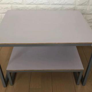 ムジルシリョウヒン(MUJI (無印良品))の無印 スチールテーブル 2つセット(ローテーブル)