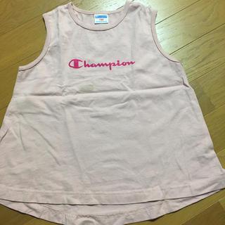 チャンピオン(Champion)のチャンピオン ノースリーブ タンクトップ  ピンク(Tシャツ/カットソー)