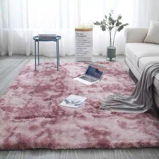 Francfranc - 洗える!ラグ ラベンダーピンクMIX ファーシャギー 北欧インテリア 絨毯