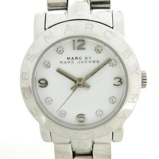 マークバイマークジェイコブス(MARC BY MARC JACOBS)のマークジェイコブス 腕時計 MBM3055 白(腕時計)
