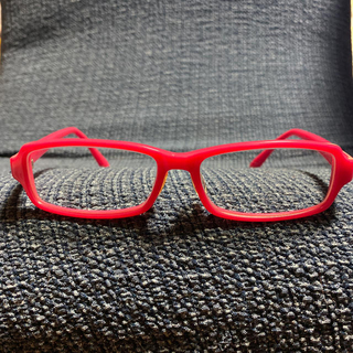 ジンズ(JINS)のALOOK ピンク フレーム メガネ 度入り (サングラス/メガネ)