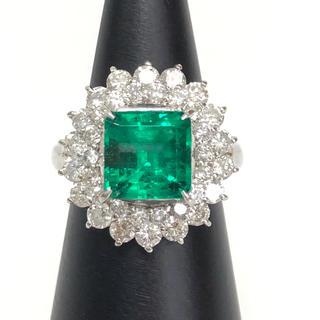 【9/22まで】 3.1ctエメラルド、1.8ctダイヤ付 Pt900 リング(リング(指輪))