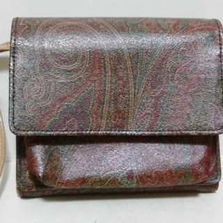 エトロ(ETRO)のエトロ 財布 ボルドー×ベージュ×マルチ(財布)