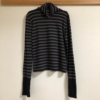 アッシュペーフランス(H.P.FRANCE)のdiamond-bar ボーダータートル長袖Tシャツ(Tシャツ(長袖/七分))