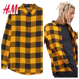 エイチアンドエム(H&M)の新品 H&M フランネルシャツ XLサイズ(シャツ)