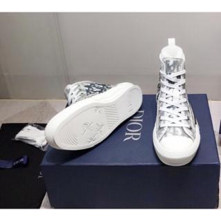 Christian Dior - 新品 大人気 Dior ディオール ロゴ B23 ハイカットスニーカー