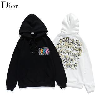 ディオール(Dior)のDIOR 2103 パーカー ロゴ プリント 2枚14000円(パーカー)
