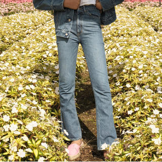 holiday - HIGH WAIST SKINNY FLARE DENIM PANTS