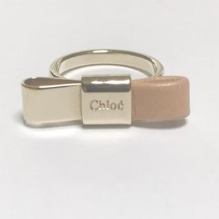 クロエ(Chloe)のクロエ リング美品  - 金属素材×レザー(リング(指輪))