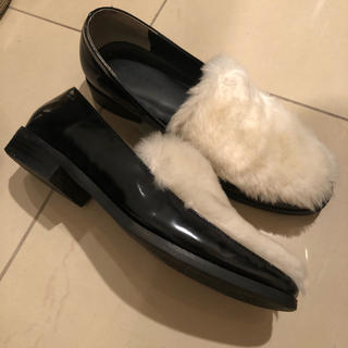 ブリスポイント(BLISS POINT)の○BLISS POINT ファーローファー(ローファー/革靴)