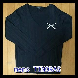 メンズティノラス(MEN'S TENORAS)の【値下げ】TINORAS 長袖 メンズ L 黒(シャツ)