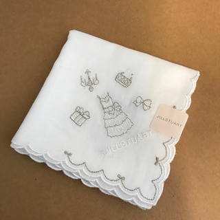 JILLSTUART - ジルスチュアート☆ガーゼハンカチ(ホワイト)新品・シール付き