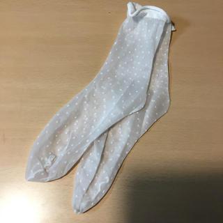 靴下屋 靴下 チュールピンドット ソックス ホワイト 白 タビオ Tabio