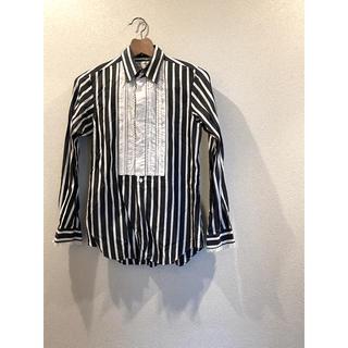 コムデギャルソン(COMME des GARCONS)のコムデギャルソン ストライプシャツ メンズ フリル モード(シャツ/ブラウス(長袖/七分))