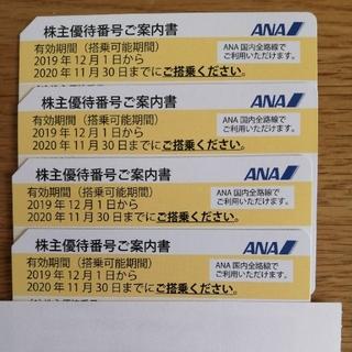 ANA(全日本空輸) -  全日空株主優待券 4枚セット