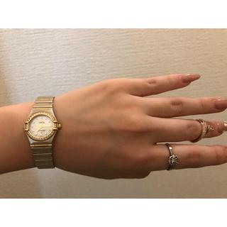 オメガ(OMEGA)のオメガコンステレーションダイヤベゼル(腕時計)