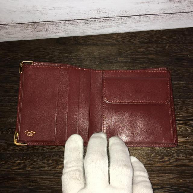Cartier(カルティエ)のカルティエ マストライン ボルドー レザー折り財布 レディースのファッション小物(財布)の商品写真