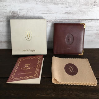Cartier - カルティエ マストライン ボルドー レザー折り財布