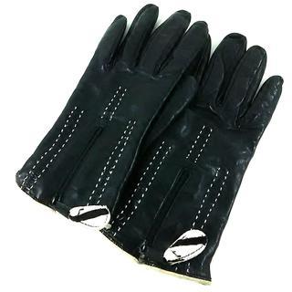 バーニーズニューヨーク(BARNEYS NEW YORK)のバーニーズ 手袋 7 レディース美品  黒(手袋)
