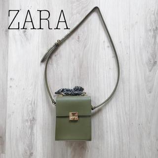 ZARA - ZARA カーキショルダーバッグ