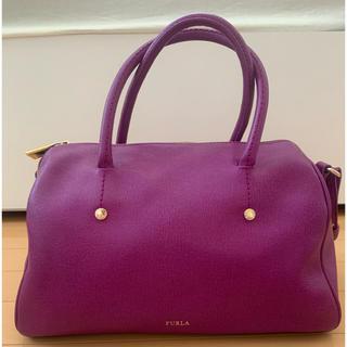 FURLAフルラ紫色ハンドボストンバック