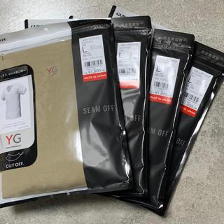 グンゼ(GUNZE)の4枚セット グンゼYG シームレス カットオフ VネックTシャツ(Tシャツ/カットソー(半袖/袖なし))