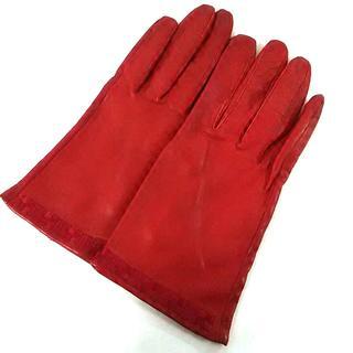 シビラ(Sybilla)のシビラ 手袋 レディース レッド 刺繍(手袋)
