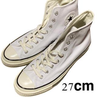 CONVERSE - 新品 27cm ct70 HI leather White ホワイト 三つ星