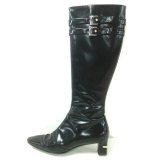 ルイヴィトン(LOUIS VUITTON)のルイヴィトン ロングブーツ 35 1/2美品  黒(ブーツ)