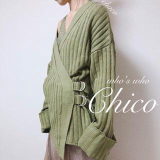 フーズフーチコ(who's who Chico)の新品🌷¥7592【Chico】カシュクールカーディガン(カーディガン)