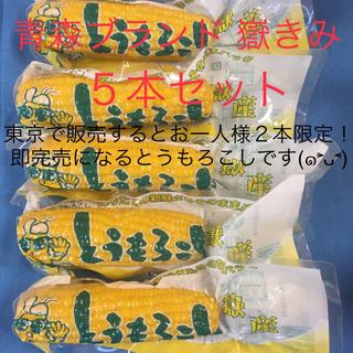 青森ブランド 嶽きみ とうもろこし 真空 5本 日本一 うまい 甘い 美味しい(野菜)