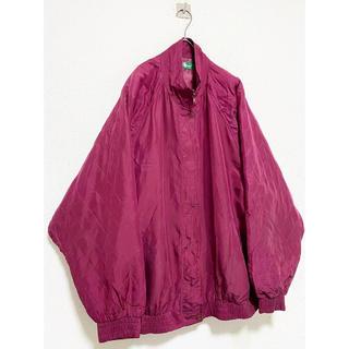 コムデギャルソン(COMME des GARCONS)のvintage レトロ 90s 赤 ワインレッド シルク100% ジャケット(ブルゾン)