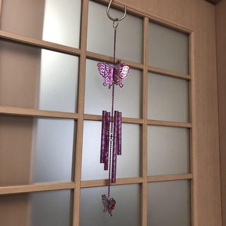ウインドチャイム バタフライ 蝶 紫(風鈴)