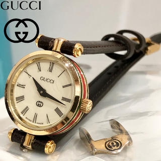 Gucci - グッチ時計 人気シェリーライン 新品ベルト 新品電池 レディース腕時計 30