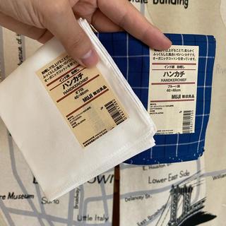 ムジルシリョウヒン(MUJI (無印良品))の新品未使用 無印良品 和晒し ハンカチ 2枚セット(ハンカチ/ポケットチーフ)