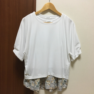 LEPSIM - レプシィム タンクトップ付きレイヤードTシャツ
