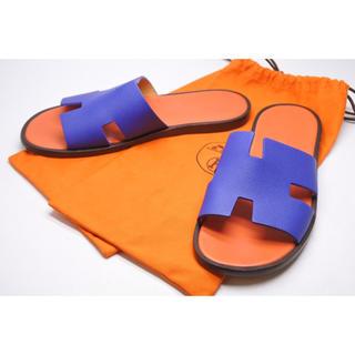 エルメス(Hermes)のエルメス イズミール サンダル オラン ブルー オレンジ レザー 42 メンズ(サンダル)