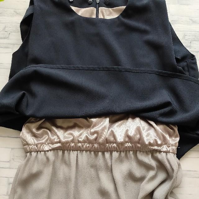 nano・universe(ナノユニバース)のnano universe 切り替え ドレス ワンピース✿二次会 結婚式 レディースのフォーマル/ドレス(ミディアムドレス)の商品写真