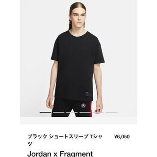 NIKE - NIKE JORDAN FRAGMENT ブラック ショートスリーブTシャツ